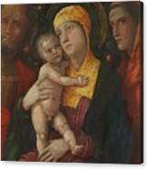 The Holy Family With Saint Mary Magdalen 1500 Canvas Print