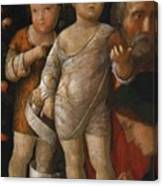 The Holy Family With St John Canvas Print