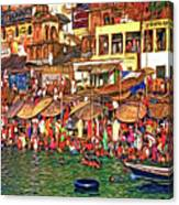 The Holy Ganges - Paint Canvas Print