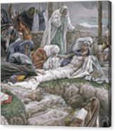 The Holy Virgin Receives The Body Of Jesus Canvas Print