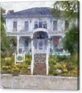 The Homes Of Mackinac Island Michigan 04 Pa Canvas Print