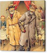 The Honest Thief 01 Illustration For Book By Dostoevsky Canvas Print