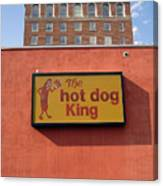 The Hot Dog King Canvas Print