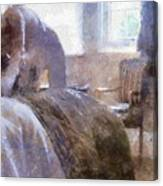 The Hotel Room By Mary Bassett Canvas Print