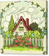 The House At The End Of Storybook Lane Canvas Print