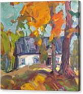 The House In Chervonka Village Canvas Print