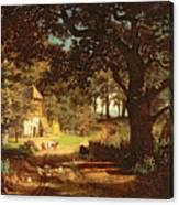 The House In The Woods Canvas Print