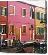 The Houses Of Burano Island-1 Canvas Print