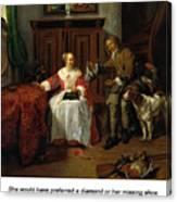The Hunter's Present Canvas Print