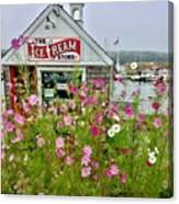 The Ice Cream Store On Bearskin Neck Canvas Print