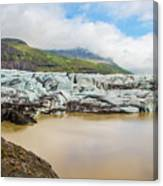 The Ice Wall Iceland Canvas Print