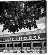 The Icehouse - Black And White - Bentonville Market District - Square Print Canvas Print