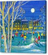 The Iceskaters Canvas Print