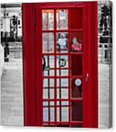 The Iconic London Phonebox Canvas Print