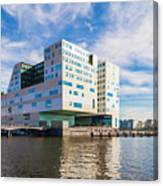 The Ij-dock In Amsterdam  Canvas Print