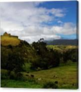 The Inca-canari Ruins At Ingapirca V Canvas Print