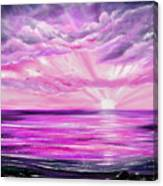 The Incredible Journey - Purple Sunset Canvas Print