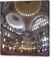 The Interior Of The Suleymaniye Mosque Canvas Print