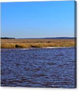 The Intracoastal Waterway In The Georgia Low Country In Winter Canvas Print