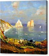 The Island Of Capri And The Faraglioni Canvas Print