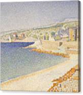 The Jetty At Cassis Canvas Print