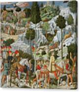 The Journey Of The Magi To Bethlehem Canvas Print