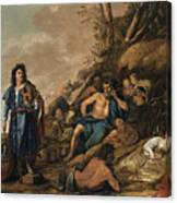 The Judgement Of Midas In The Contest Between Apollo And Pan Canvas Print