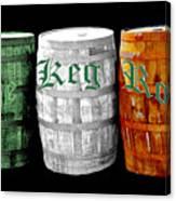 The Keg Room Irish Flag Colors Old English Hunter Green Canvas Print