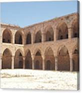 The Khan, Also Known As A Caravanserai, In Akko, Israel Canvas Print