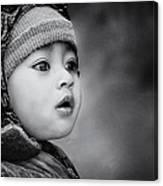 The Kid From Sarangkot Canvas Print