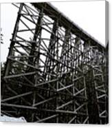 The Kinsol Trestle Panorama View On Snowy Day 1. Canvas Print