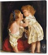 The Kiss  After John Morgan 1800 Canvas Print