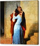 The Kiss Of Hayez Revisited Canvas Print