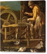 The Knife-grinder Canvas Print