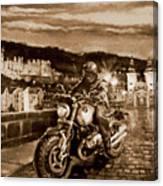 The Knight of Heidelberg-Sepia Canvas Print