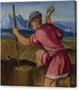 The Labours Of The Months   February Canvas Print
