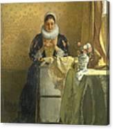The Lace Maker  Canvas Print