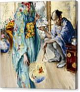 The Lady And Sada San Canvas Print