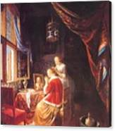 The Lady At Her Dressing Table 1667 Canvas Print