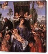 The Lady Of The Festival Du Rosaire Fragment Canvas Print