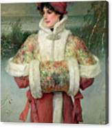 The Lady Of The Snows Canvas Print