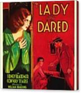 The Lady Who Dared 1931 Canvas Print