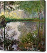 The Lake At Montgeron Canvas Print