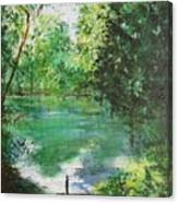The Lake At Stansted Unfinished Canvas Print