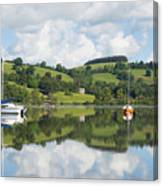The Lake District Popular Beautiful Uk Holiday Destination Ullswater Cumbria North England Canvas Print