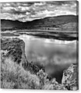 The Lake In Black And White Canvas Print