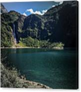 The Lake On A Mountain Canvas Print