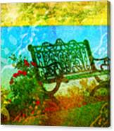 The Lakeview Bench Canvas Print
