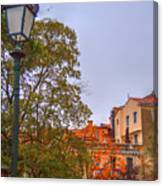 The Lamppost In Oil Canvas Print