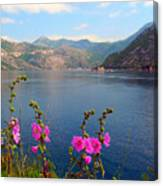 The Landscape Of The Bay Of Kotor In Montenegro. Canvas Print
